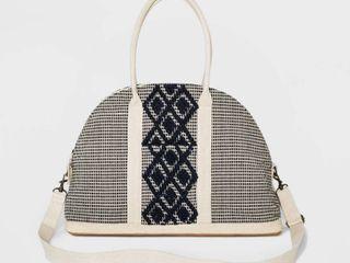 Handloom Canvas Weekender Bag   Universal Thread Navy  Blue