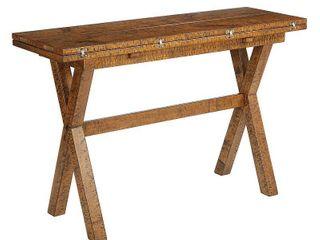 Mckayla Flip Top Table Distressed Brown   OSP Home Furnishings