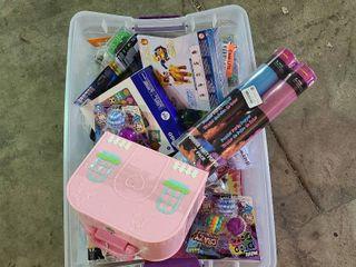 Miscellaneous box of kids toys   stocking stuffers