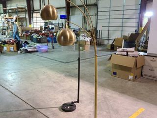 Gold Globe lamp   as is needs new electrical cord
