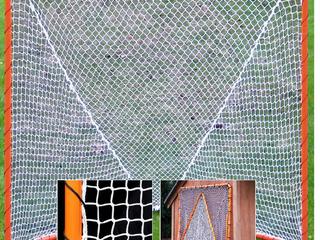 EZGoal lacrosse Folding Goal  6 x 6 Feet  Orange