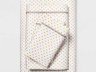 Cotton Percale Print Sheet Set  Twin Twin Xl  Gold   Opalhouse
