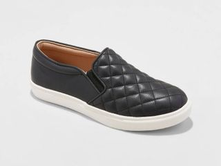 Women s Reese Quilted Sneakers   A New Day Black 9 5