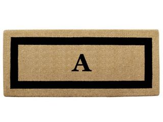 Heavy duty Coir Single Black Picture Frame Monogrammed Doormat  Retail 96 99