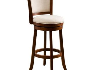 Mallik 43 inch Fabric Swivel Backed Bar Stool by Christopher Knight Home  Retail 129 99