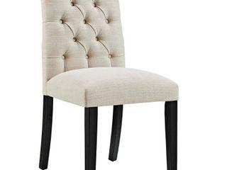 Duchess Fabric Dining Chair Beige   Modway
