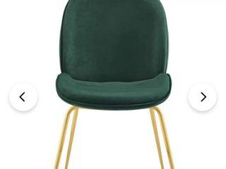 Art leon Beetle Design Velvet Dining Chair with Plated Golden legs  Retail 129 49