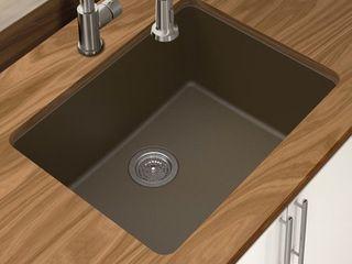 Winpro Granite Quartz 25  l x 18 5  W Single Bowl Undermount Kitchen Sink