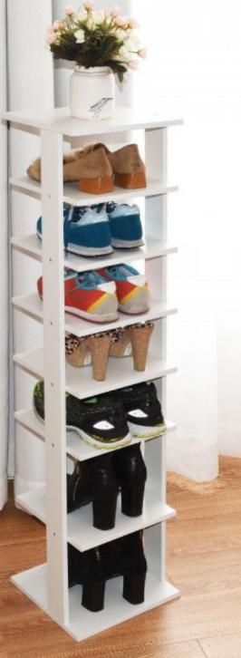 7 Tier Shoe Rack Practical Free Standing Shelves Storage Shelves