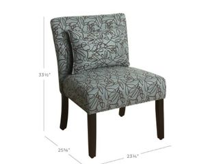 Parker Accent Chair with Pillow   Blue Graphite   HomePop