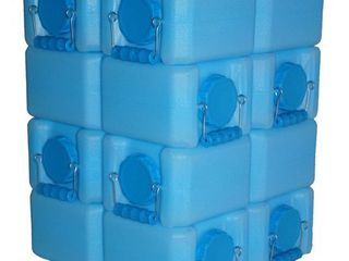 WaterBrick BPA Free 3 5 gallon Water Storage Container  Pack of 8    Blue  Retail 128 99