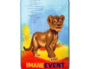 The lion King 46 x60  Throw Blanket Blue