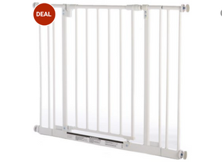 North States Easy Close Pressure Mounted Dog   Cat Gate  White