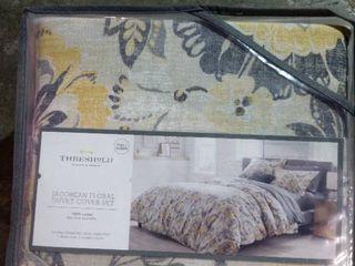 Threshold Jacobean Floral Duvet Cover Set Full queen Yellow Gold 3 Pcs Set