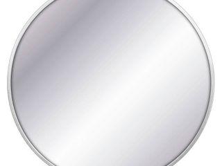 28  Round Decorative Wall Mirror Silver   Project 62