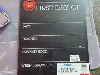 Set of 2   Kid First   last Day Of School Reversible Black Chalkboard Sign 15 5 X 12