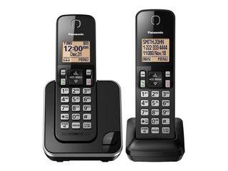 2 Sets of Panasonic 2 Handset Cordless Phone   Black  KX TGC352B