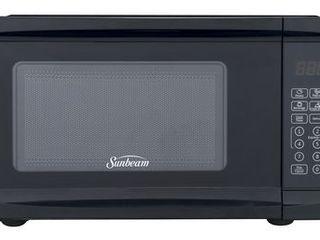 Sunbeam 0 7 Cu Ft  Microwave Oven  10 Power levels  6 Pre set Menus  Child lock