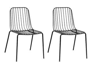 Kids Parallel Wire Activity Chair 2pk Black