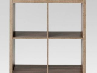 13  4 Cube Organizer Shelf Weathered Gray   Threshold