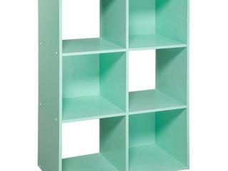 11  6 Cube Organizer Shelf Mint   Room Essentials