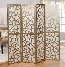 giyano 4 panel screen room divider small scratches on metal gold