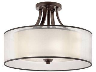 Kichler lighting lacey Collection 4 light Mission Bronze Semi Flush Mount  Retail 494 99