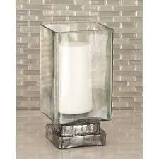 Copper Grove Fossli Glass Hurricane Candle Holder