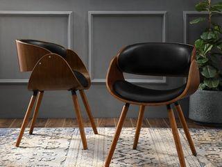 Corvus Mid century Modern Accent Chair  Retail 252 99 black