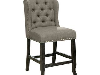 Furniture of America Tays Counter Height Stool  Set of 2  Retail 313 49 grey