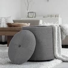 Copper Grove Vaasa Faux leather and Fabric Storage Ottoman grey