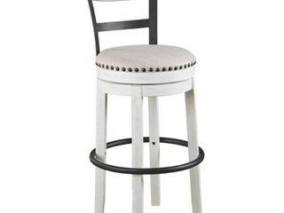 Tall Valebeck Upholstered Swivel Barstool White   Signature Design by Ashley