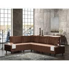 Modern Metal Frame With Foam Seat Sectional Sofa  Retail 614 49 brown