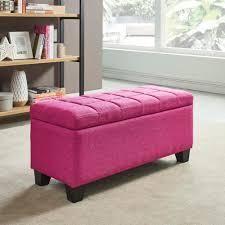 lila Fabric Storage Ottoman  Retail 120 43 pink