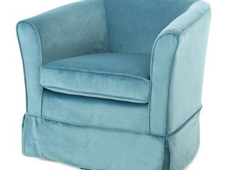 Cecilia Velvet Swivel Club Chair by Christopher Knight Home  Retail 226 99 blue