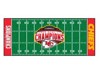 Kansas City Chiefs Super Bowl lIV Champions Field Runner Mat 30  x 72    2  x 6  Runner   2  x 6  Runner