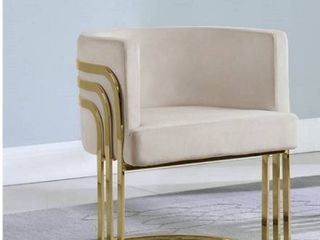 Best Quality Furniture Accent Chair with Gold Base  Single  Retail 367 49