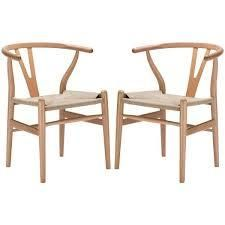 Poly and Bark Weave Chair  Set of 2    Retail 299 00 natural wod