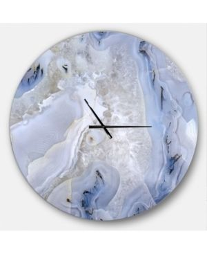 Designart  Agate Stone Background  Oversized Modern Wall Clock  Retail 165 49