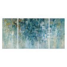 Wexford Home  I love the Rain  Canvas Premium Multi Piece Art  Retail 173 49