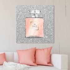 Oliver Gal  19544 Paris Glitter Spring  Fashion and Glam Wall Art Canvas Print   Gray  Pink  Retail 325 49