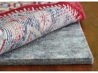 JustPlush Supreme 1 2 inch Thick Cushioned Felt Rug Pad   Grey   8  x 10  Retail 112 49