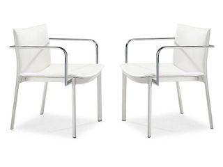 Gekko Conference Chair  Set of 2  Retail 335 99 white