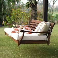 Cambridge Casual Como Outdoor Swing Daybed with Cushion  Retail 519 99 natural brown