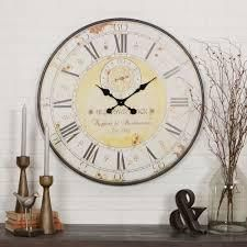 The Gray Barn Beat and Branch Round Wall Clock   31 5 H x 31 5 W x 1 D  Retail 79 98 brown