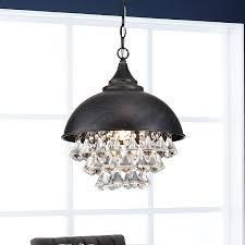 Visalia Antique Black Single light Crystal Chandelier  Retail 131 99 black and brown