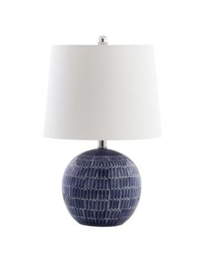 Ronald 21  Ceramic lED Table lamp  Navy by JONATHAN Y  Retail 76 98