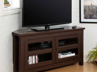 Walker Edison Wood Corner TV Stand for TVs up to 48    Espresso