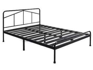 14 Inch Heavy Duty Metal Platform Bed with Headboard Mattress Foundation