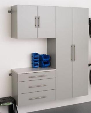 Prepac HangUps 60  Storage Cabinet B 3pc  Set B   3 pc  light Gray